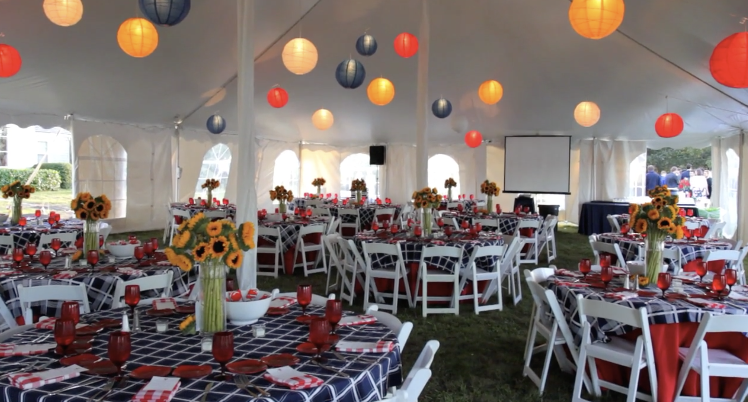 Sarah & Matt's Cape Cod Clambake Reception